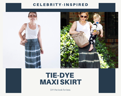 Picture of Celebrity Inspired Tie Dye Maxi Skirt