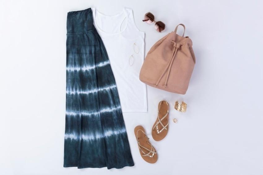 Hilary Duff Inspired Tie Dye Maxi Skirt