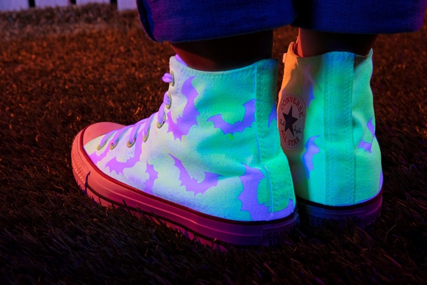 Picture of Glow in the Dark Bat High top Sneakers