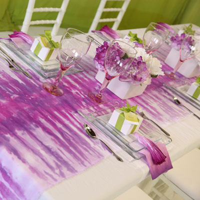 Picture of Spring Tabletop Dyed Table Runner