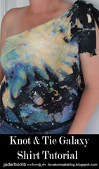 Picture of Knot And Tie Galaxy Shirt Tutorial