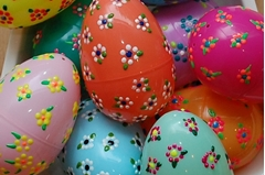 Floral Puffy Paint Easter Eggs