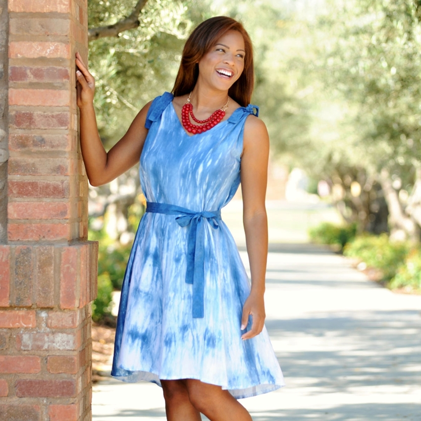 Picture of Chic Shibori Sundress