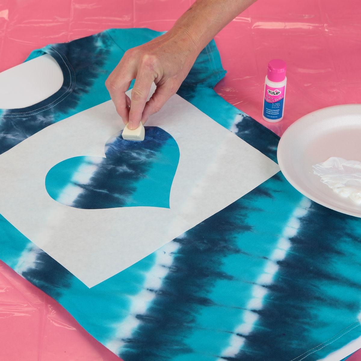 Shimmer Heart Tie-Dye Tee