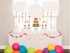 Picture of Rainbow Baby Shower Station With Tulip Fabric Markers