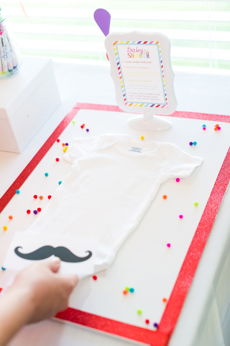 Gerber® ONESIES® Baby Shower Station With Tulip Fabric Markers