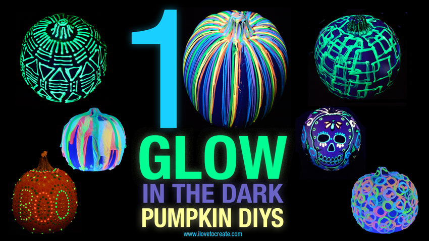 Picture of 10 Glow in the Dark Painted Pumpkins