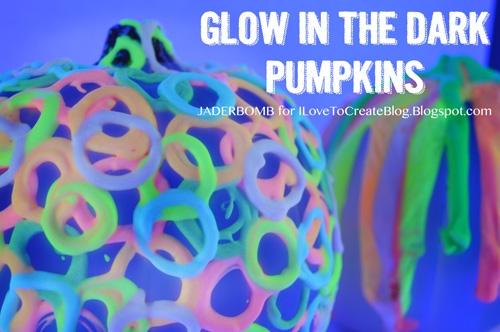 DIY Whimsical Glow in the Dark Pumpkins