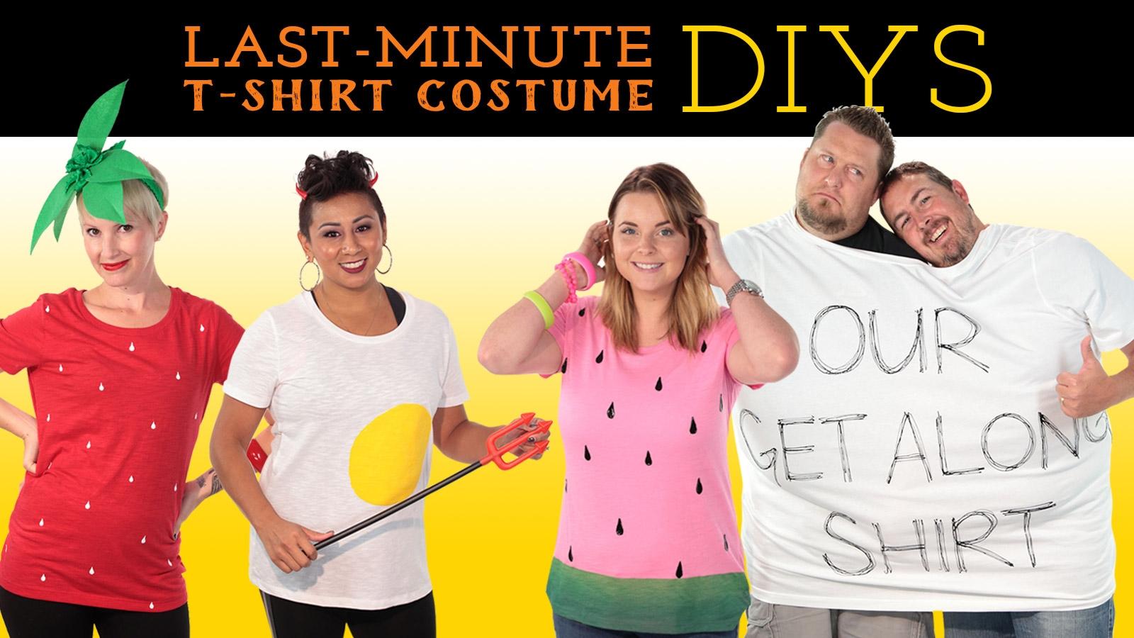 Picture of Last-Minute T-shirt Costume DIYs