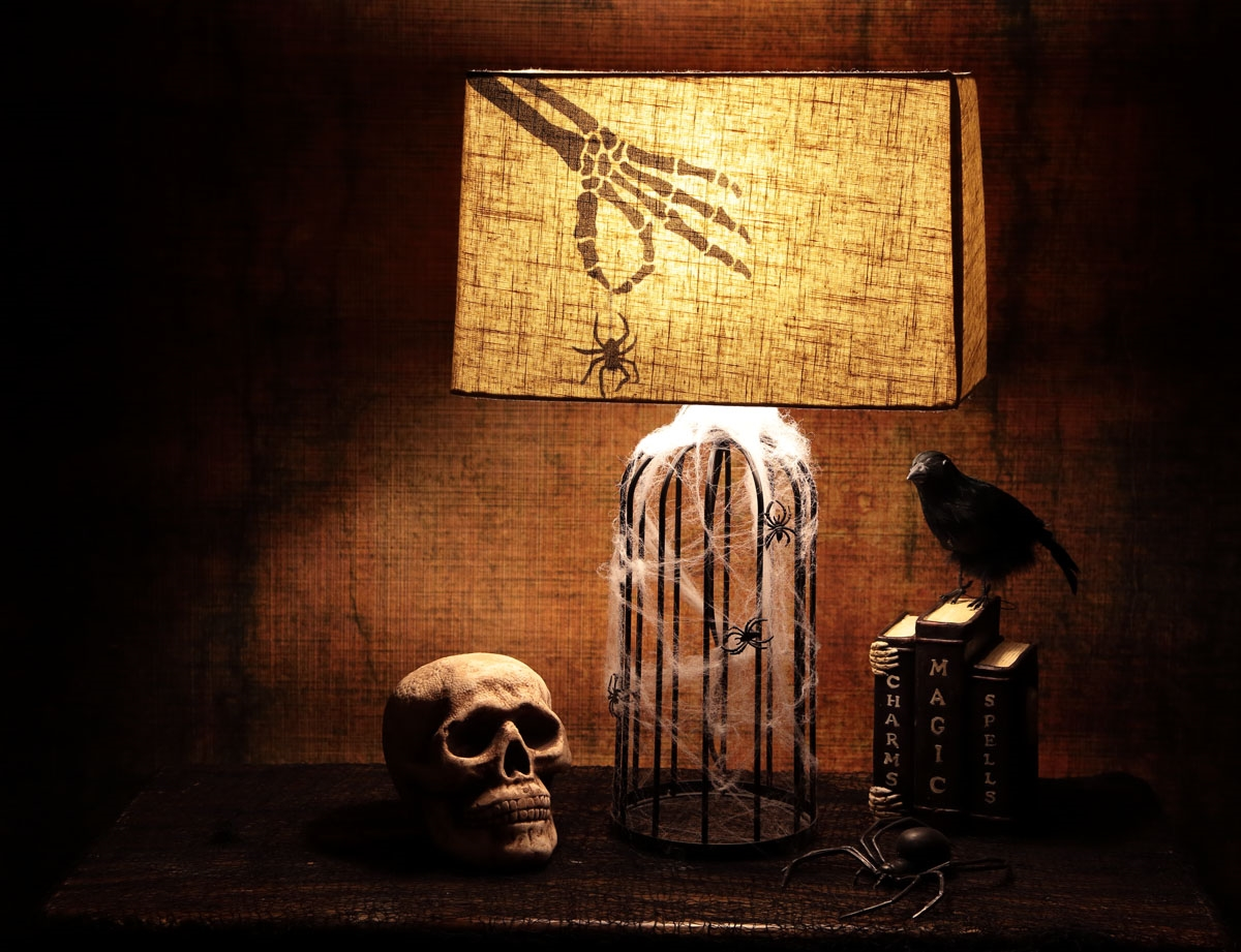 Picture of Bone Chilling Skeleton Hand Lampshade
