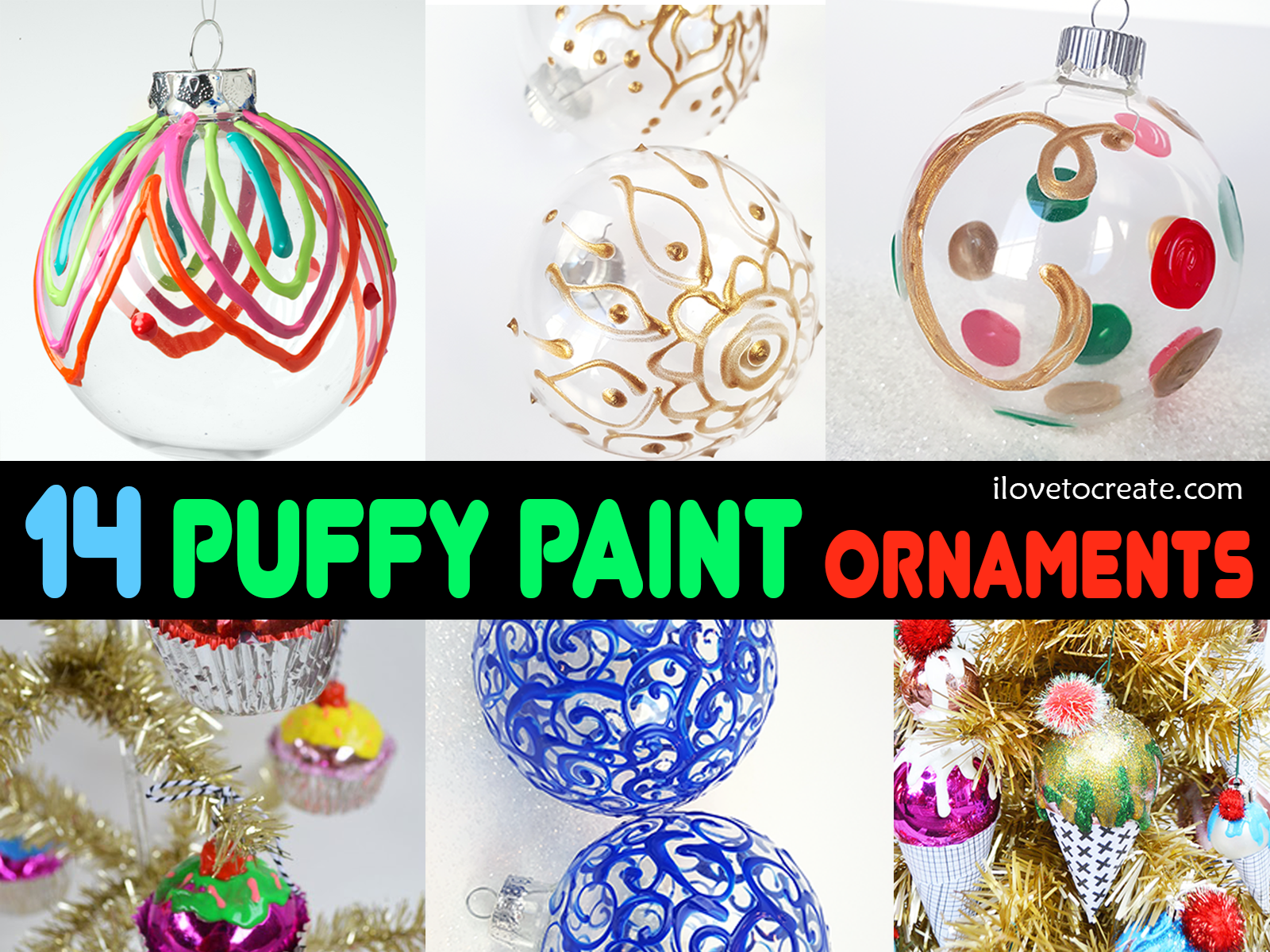 Picture of 14 Ways to Make the Perfect Puffy Paint Ornament