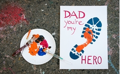 Picture of Walking in Dad's Shoes Canvas Art