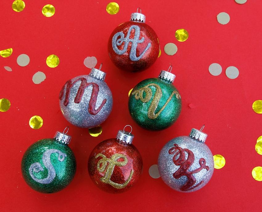 Picture of Glitter Monogram Ornaments