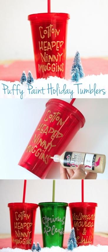 Personalized Glitter Tumbler