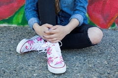 Picture of First Kiss Canvas High Tops