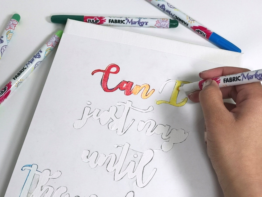 Rainbow Hand Lettered Canvas