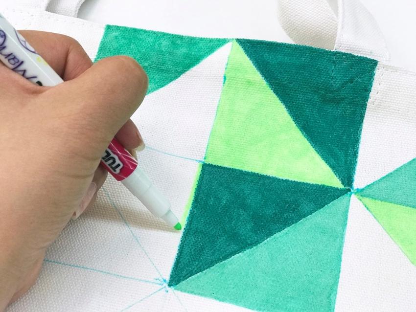 Geometric Triangle Marker Tote