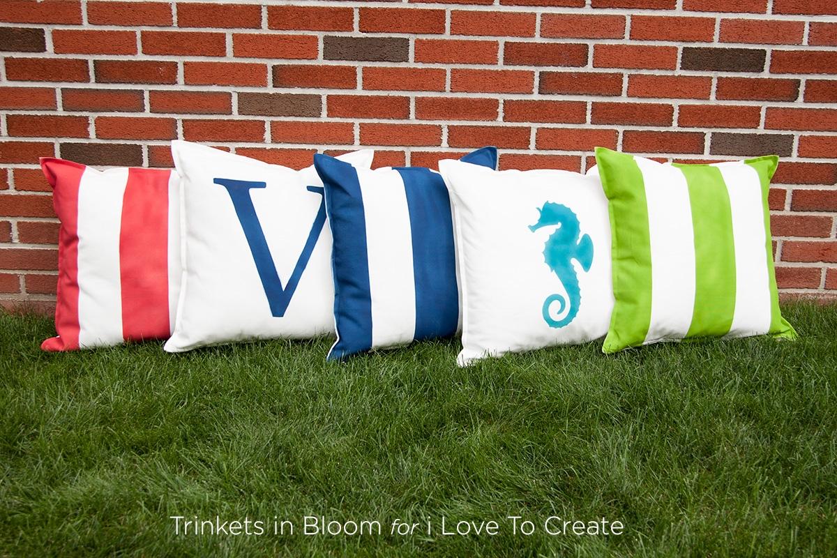 Outdoor ColorShot DIY Pillows