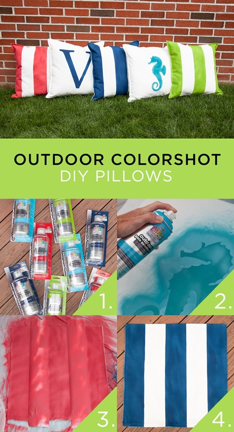 Outdoor ColorShot DIY Pillows