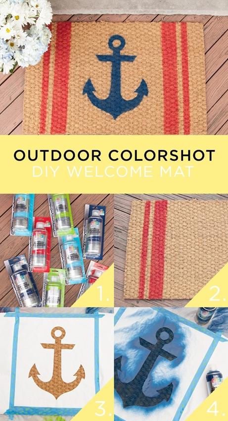Outdoor ColorShot DIY Welcome Mat