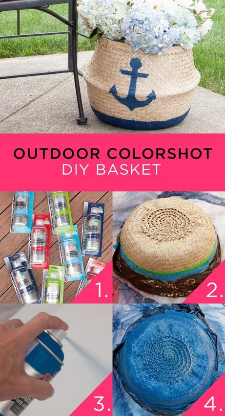 Outdoor Colorshot DIY Basket