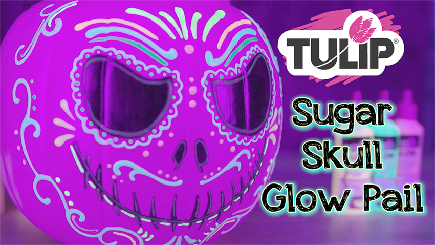 Picture of Sugar Skull Glow Pumpkin Pail