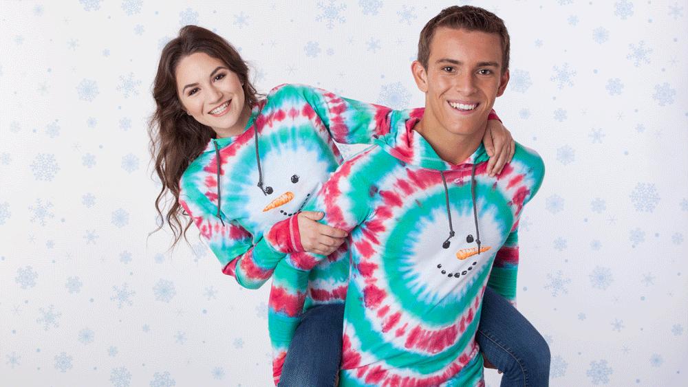 Picture of DIY Tie-Dye Snowman Ugly Sweater Hoodie