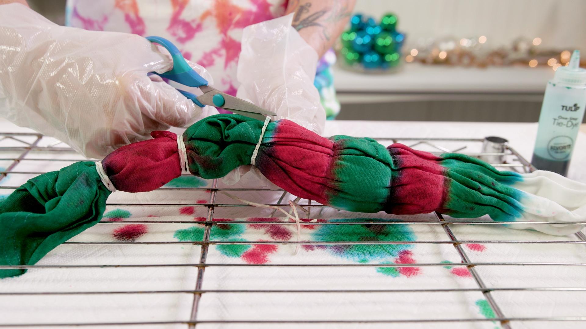 DIY Tie-Dye Snowman Ugly Sweater Hoodie