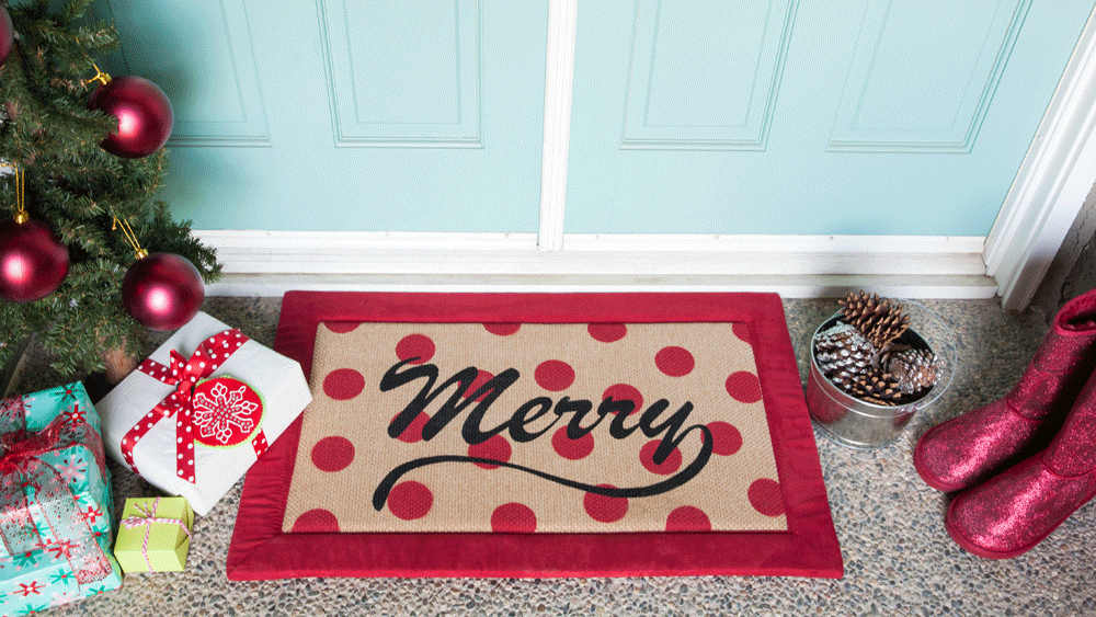 Picture of DIY Holiday Welcome Mat