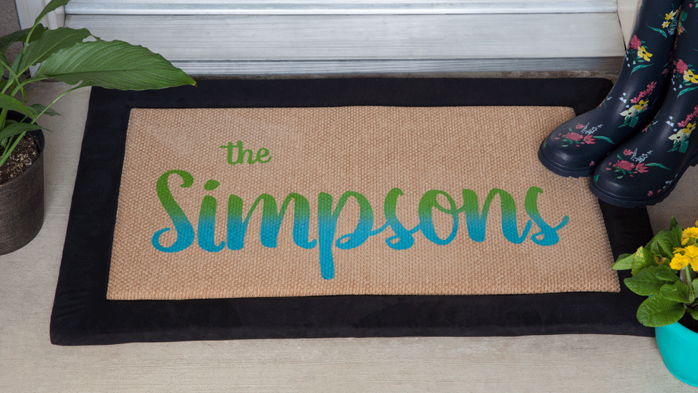 Picture of DIY Personalized Family Welcome Mat