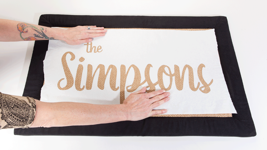 DIY Personalized Family Welcome Mat