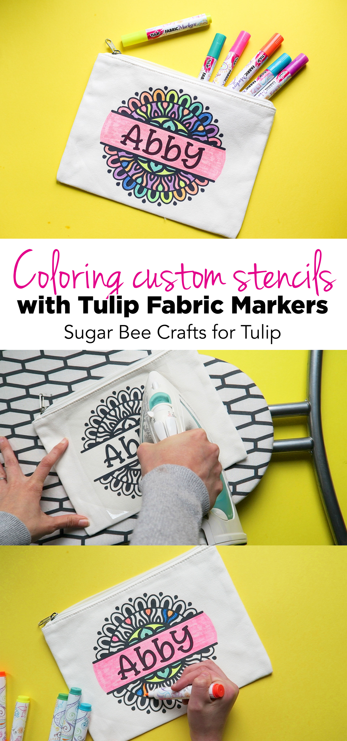 Stenciled Fabric Markers