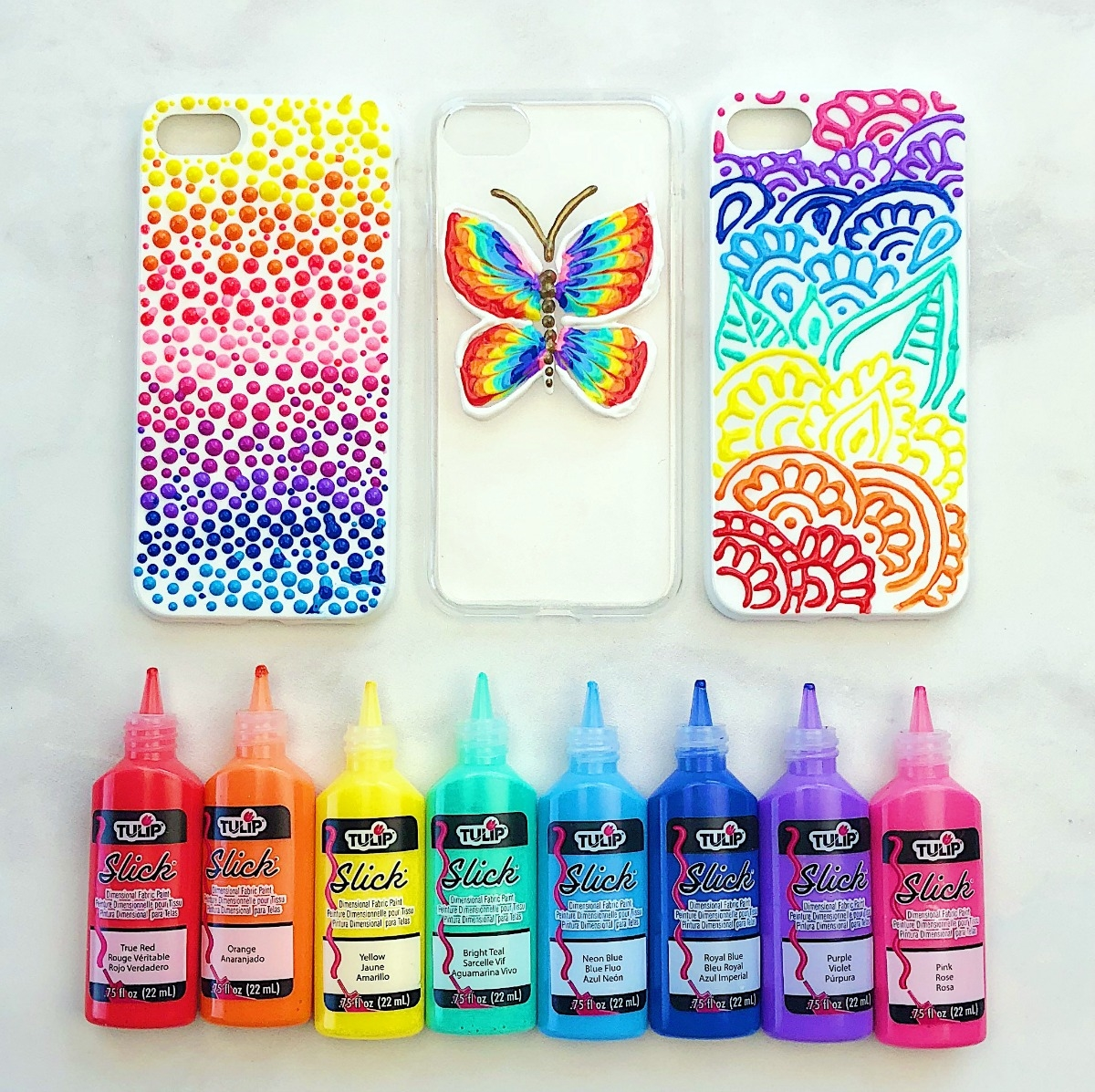 Puffy Paint Diy Phone Cases Tulip Color