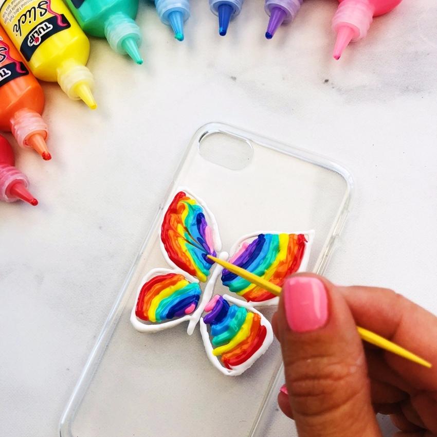 Create petal shaped line with a toothpick