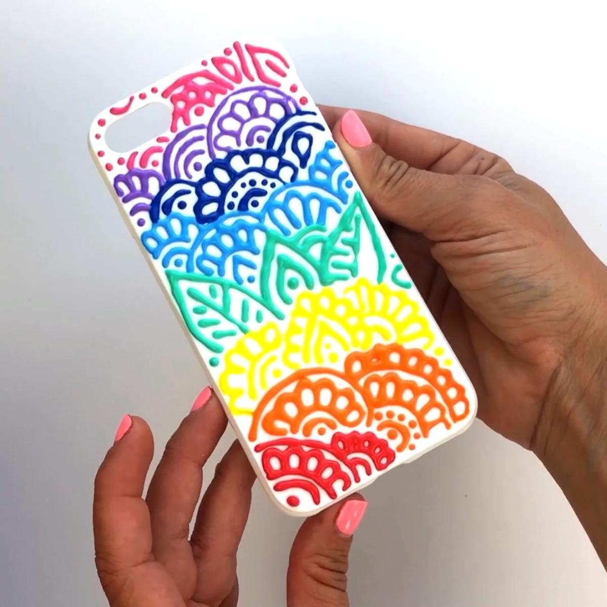 Repeat Mandala designs to fill the case