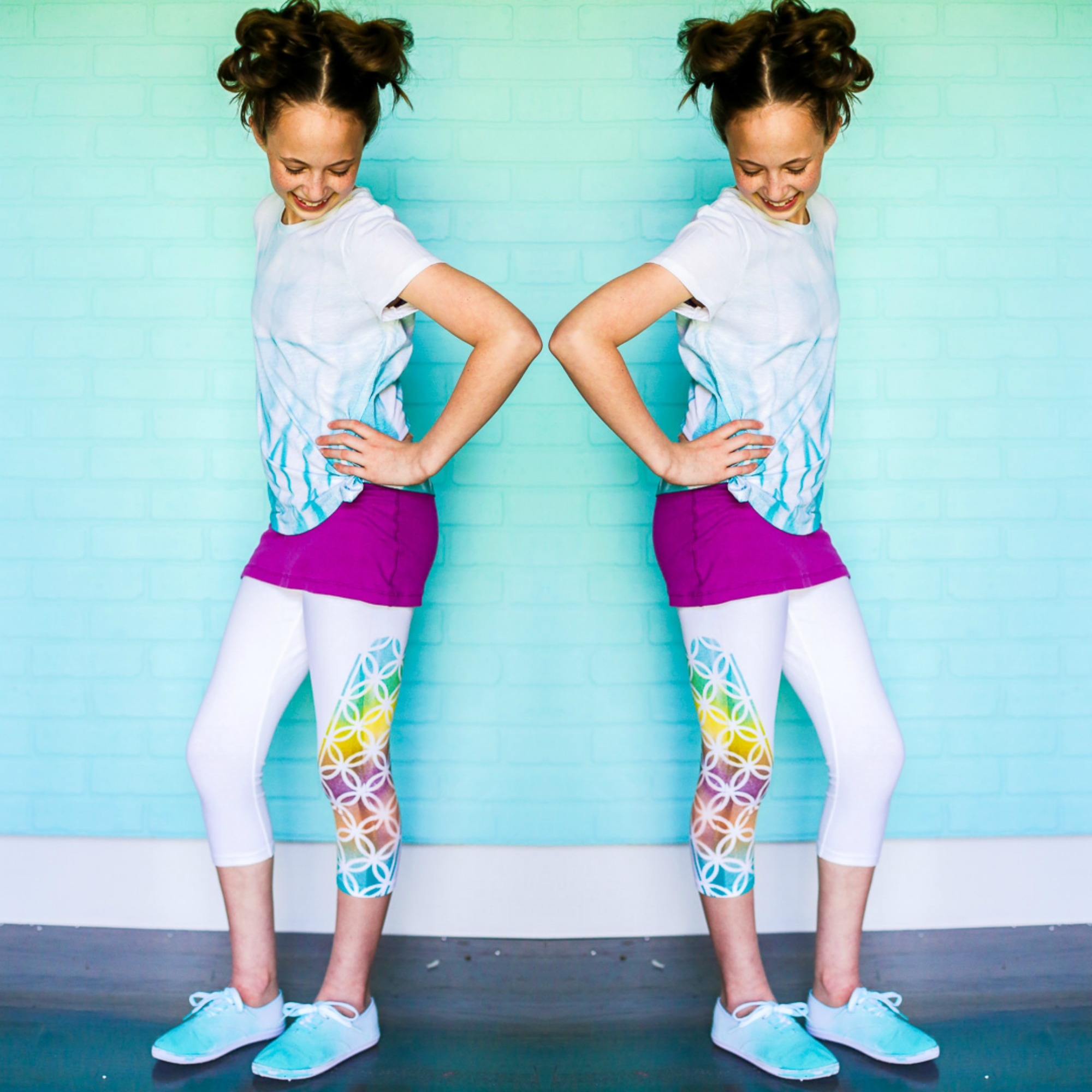 Picture of Colorshot Stenciled Leggings