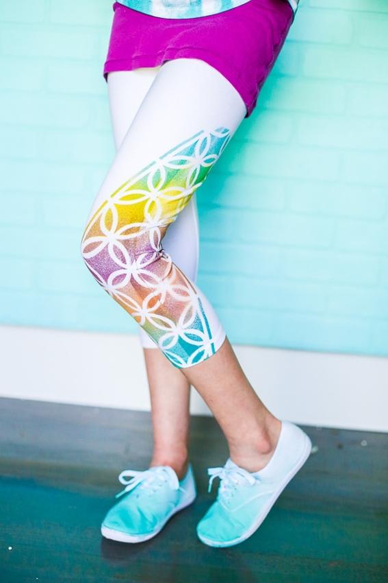 Colorshot Stenciled Leggings