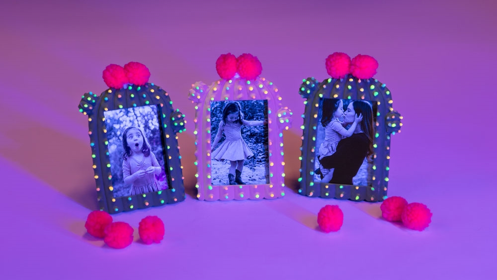 DIY Glow in the Dark Cactus Frames