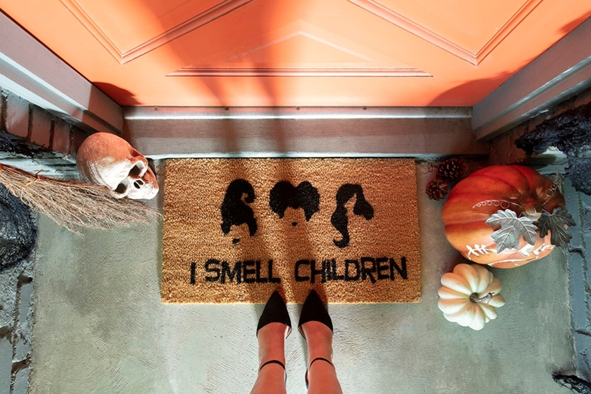 Halloween Movie Quote Doormat
