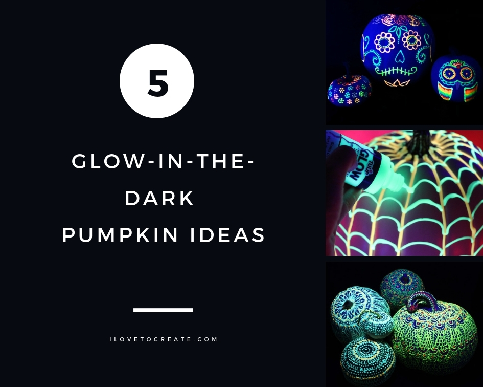 Picture of 5 Glow-in-the-Dark Painted Pumpkin Ideas