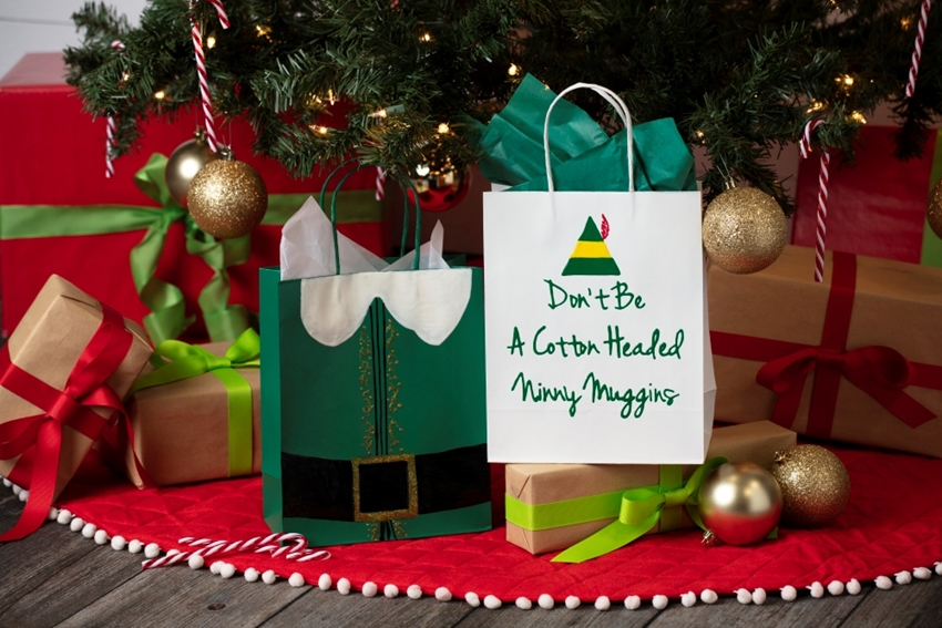 Picture of Elf Movie-Inspired Holiday Gift Bags