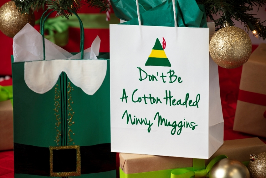 Elf Movie-Inspired Holiday Gift Bags