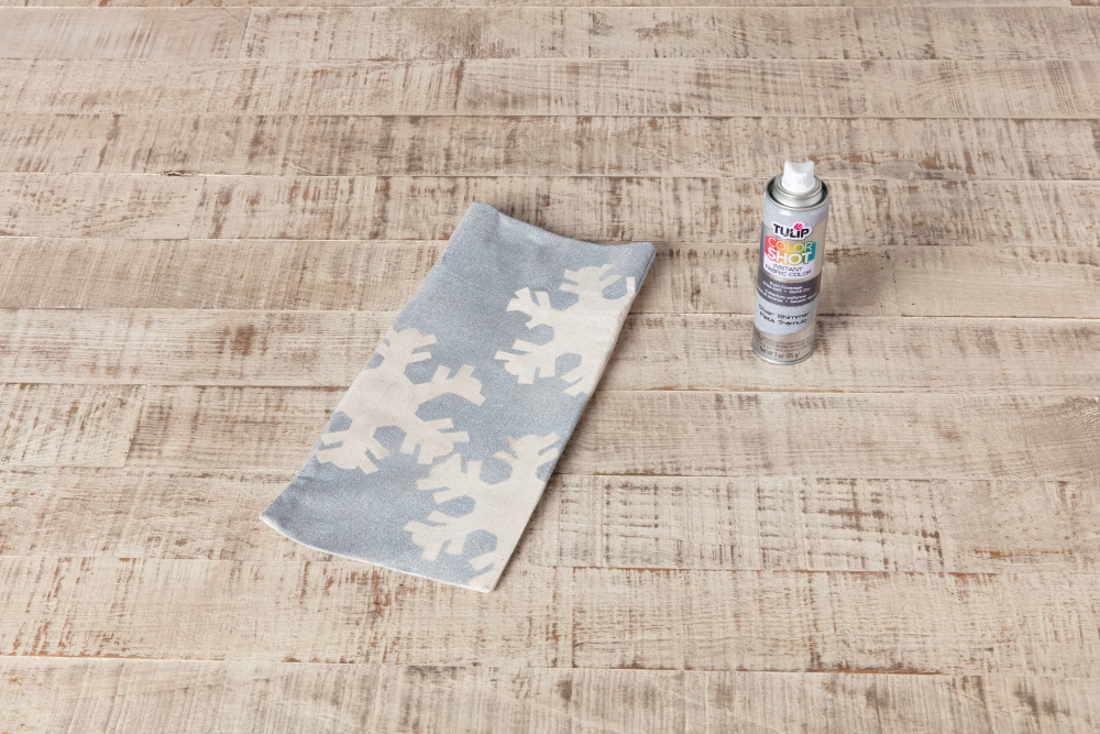 Fabric Spray Paint Custom Holiday Wine Bags