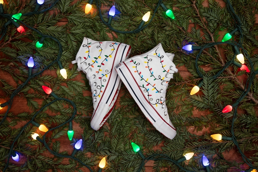 Picture of Christmas Lights Sneakers for Handmade Gifts