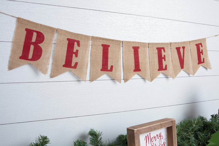"Picture of ""Believe"" Pennant Banner"