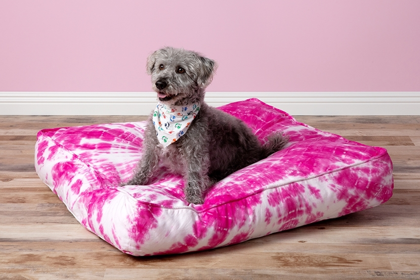 Picture of Shibori Tie Dye Dog Bed