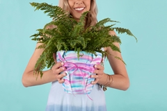 Painted Flowerpot Fabric Wrap