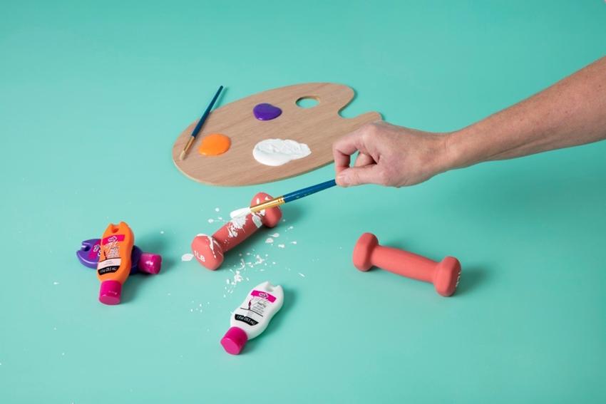 DIY Splatter Paint Weights