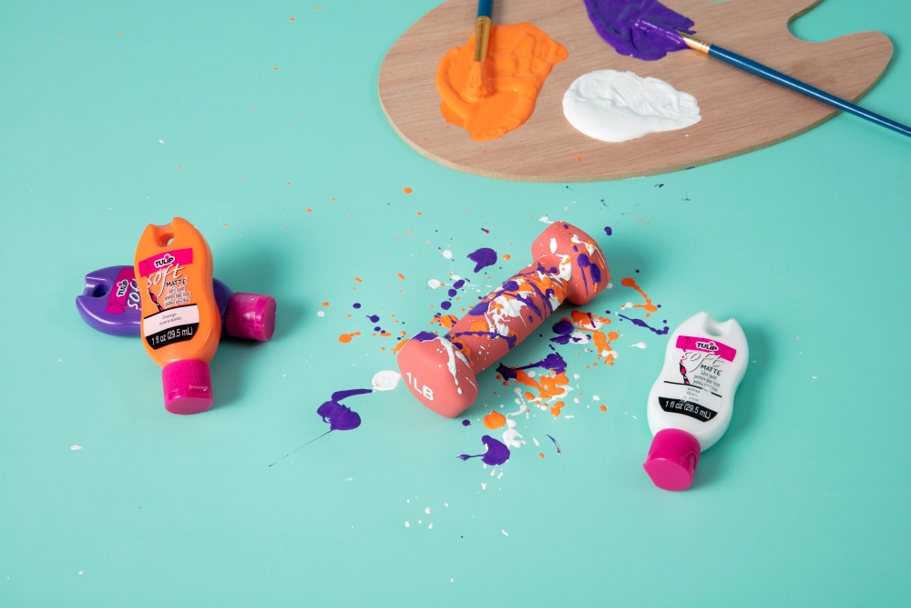 DIY Splatter Paint Weights