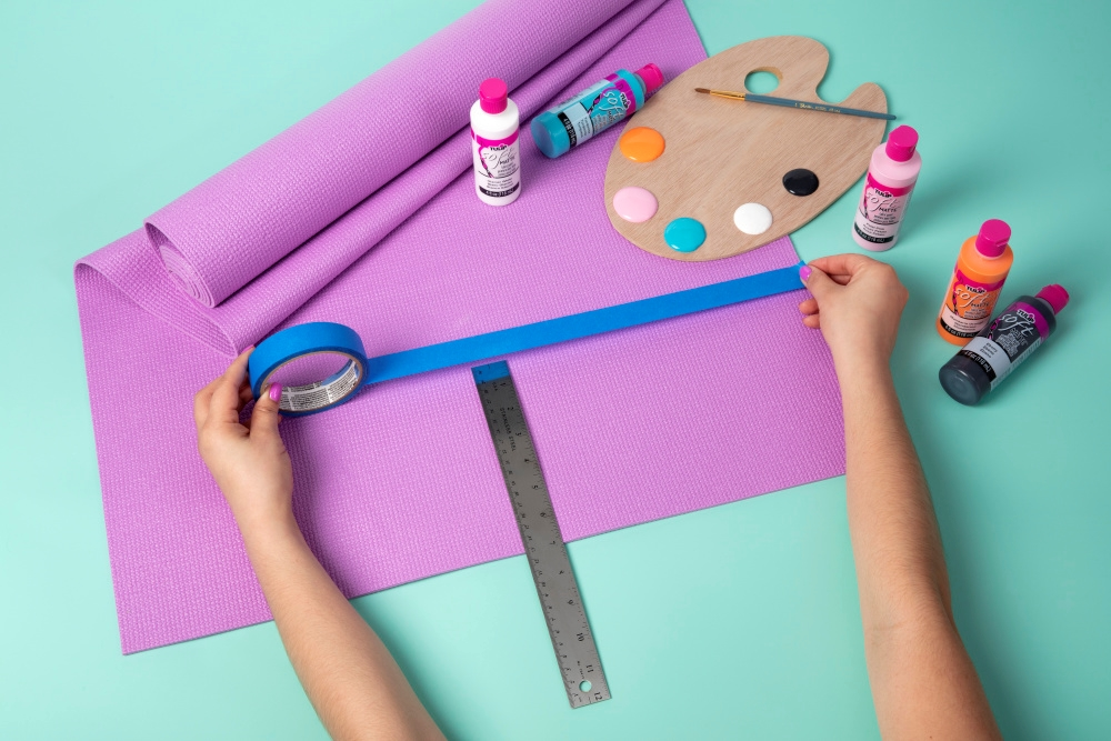 DIY Custom Painted Yoga Mat